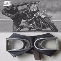 Óculos Motociclismo Motocross Vintage Couro Exclusividade.