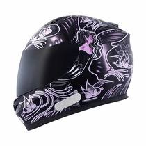 Capacete Mt Blade New Butterfly-black-pink Tamanho 56/p 58/m