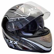 Capacete Texx Race Sleek Double Vision Cinza