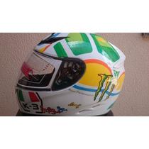 Capacete Valentino Rossi 46 Corsa The Turtle K-3 Branco