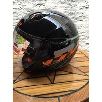 Capacete Ls2 Cafe Racer Orange Moto Acessorio Hd Viseira