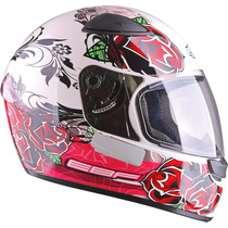 Capacete Ebf E0x Roses Branco Frete Grátis Na Dragon Racing