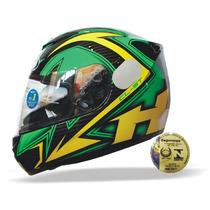 Capacete Hjc Cl-st Rocker Amarelo E Verde Mc-4