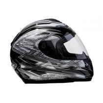 Capacete Motociclista Helt Race 993 Viseira 3 Mm Preto 58