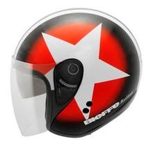 Capacete Aberto Moto Harley Custom Café Racer Com Óculos