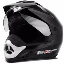 Capacete Top Helmet Com Viseira Th1 Preto Protor