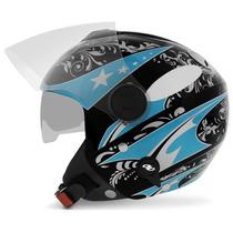 Capacete Aberto Feminino Pro Tork New Atomic Azul Moto 56