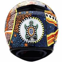 Capacete Agv K3 Dreamtime Rossi Azul/amar 61/62 Rs1