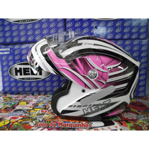 Capacete Helt Hippo Robocop Rosa Brilhante Tam. 58 Novo
