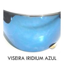 Viseira Capacete Ls2 Ff350/ Norisk Azul Iridium - Polivisor