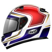 Capacete Mt Helmets Blade Transition Branco - 60