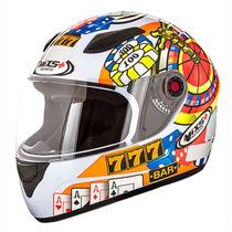 Capacete Mixs + Helmets Fokker Cassino Branco