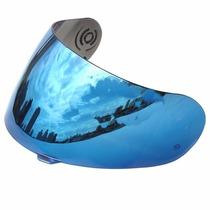 Viseira Azul Espelhada Capacete Peels Mach-5 Rt