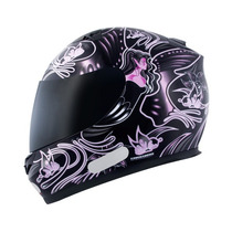 Capacete Mt Blade New Butterfly- Black-pink 56
