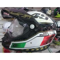 Capacete Cross Valentino Rossi Com Viseira E Selo Sem Juros