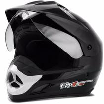 Capacete Motard Pro Tork Th1 Helmet Viseira Motocross Preto