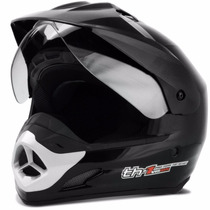Capacete Original Pro Tork Motard Helmet Th1 Moto Preto