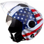 Capacete De Moto New Atomic Bandeira Dos Estados Unidos