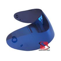 Viseira Capacete Mt Joker Casino Dragon Similar Azul Iridiun