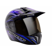 Capacete Bieffe 3 Sport Freestyle Preto E Azul Dragon Racing