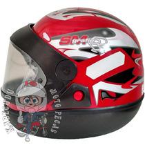 Capacete Taurus San Marino Grafic - Vermelho 56/ 60
