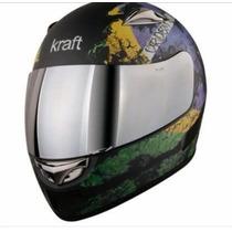 Capacete Kraft Super Leve Fibra De Carbono.