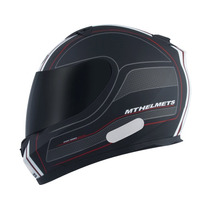 Capacete Mt Blade Raceline Bluetooth Connection Preto/branco