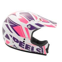Capacete Peels Px-1 Jump Roxo E Rosa + Oculos Bieffe Cross