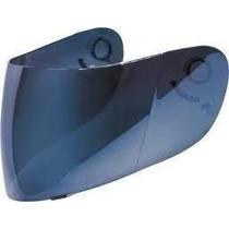 Viseira Azul Iridium Espelhada P/ Capacete Gdr Blackblade