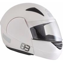 Capacete Ebf E8 Articulado Escamoteável Branco Frete Grátis