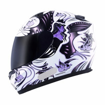 Capacete Mt Blade New Butterfly - White-pink Tamanho 56/p