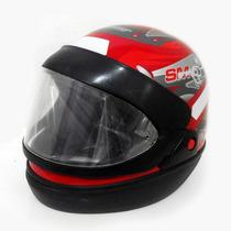 Capacete Moto Taurus San Marino Grafic Fechado Vermelho 56