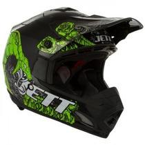 Capacete Motocross Jett Veneno Preto/verde