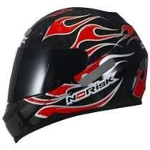 Capacete Norisk Ff391 Trial By Fire Red