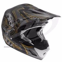 Capacete Protork Th-1 Gold Edition - Trilha - Motocross