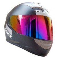 Capacete Moto Texx Bravo Machine Preto Fosco Viseira Iridium