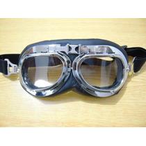 Oculos Capacete Aberto Motociclista Custom Retro Transparent
