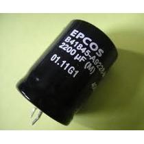 Capacitor Eletrolitico 2.200uf X 100v * 2200uf * 2.200 Uf