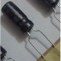 Capacitor Eletrolítico 2.2uf 50v Pacote C/ 50 Pçs. - R$ 8,90