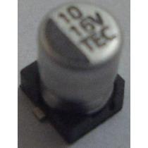 Capacitor Eletrolítico Smd 10uf 16v Emb. 10 Pçs. R$ 6,90