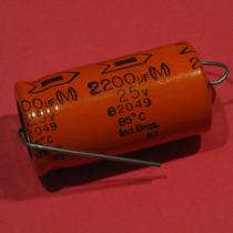 3 Peças* Capacitor Eletrolítico Axial 2200uf 25v 85º Siemens