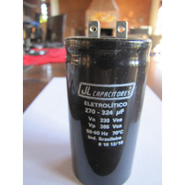 Capacitor Eletrolítico 270-324uf 330v - Jl Capacitores
