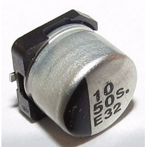 Capacitor Eletrolítico Smd 10uf 50v Emb. 10 Pçs.