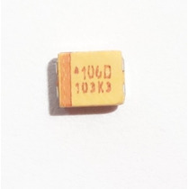 10x Capacitor Tantalo Smd 10uf 20v Case B - Tajb106k020rnj