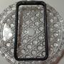 Bumper Iphone 4 4s Preto Transparente Emborrachado Capa Case