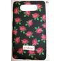 Capa Capinha Case De Silicone Floral Flores Nokia Lumia 820