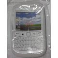 Capa Blackberry 9700 Bold Silicone Branca Transp + Película