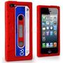 Capinha Silicone Vermelha Iphone 4 4s Retro Fita Cassete K7