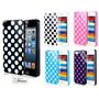 Case/capa Silicone Bolinhas Iphone 5s,5,4s,4g, 3gs +película