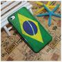 Capa Hard Case Premium Para Iphone 4g 4s - Bandeira Brasil